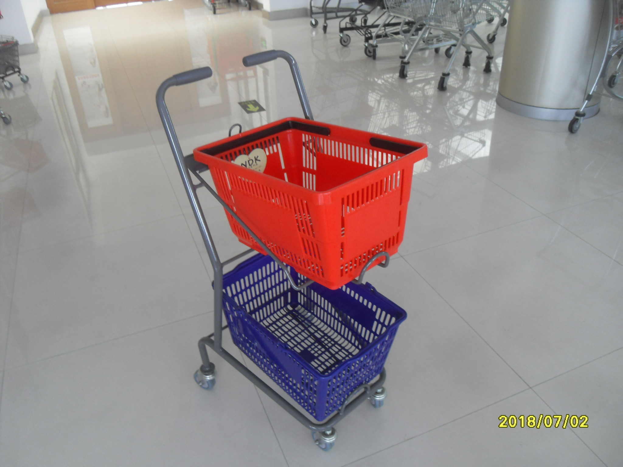 4 Swivel 3 Inch PVC Casters Supermarket Shopping Trolley Used In Small Shop