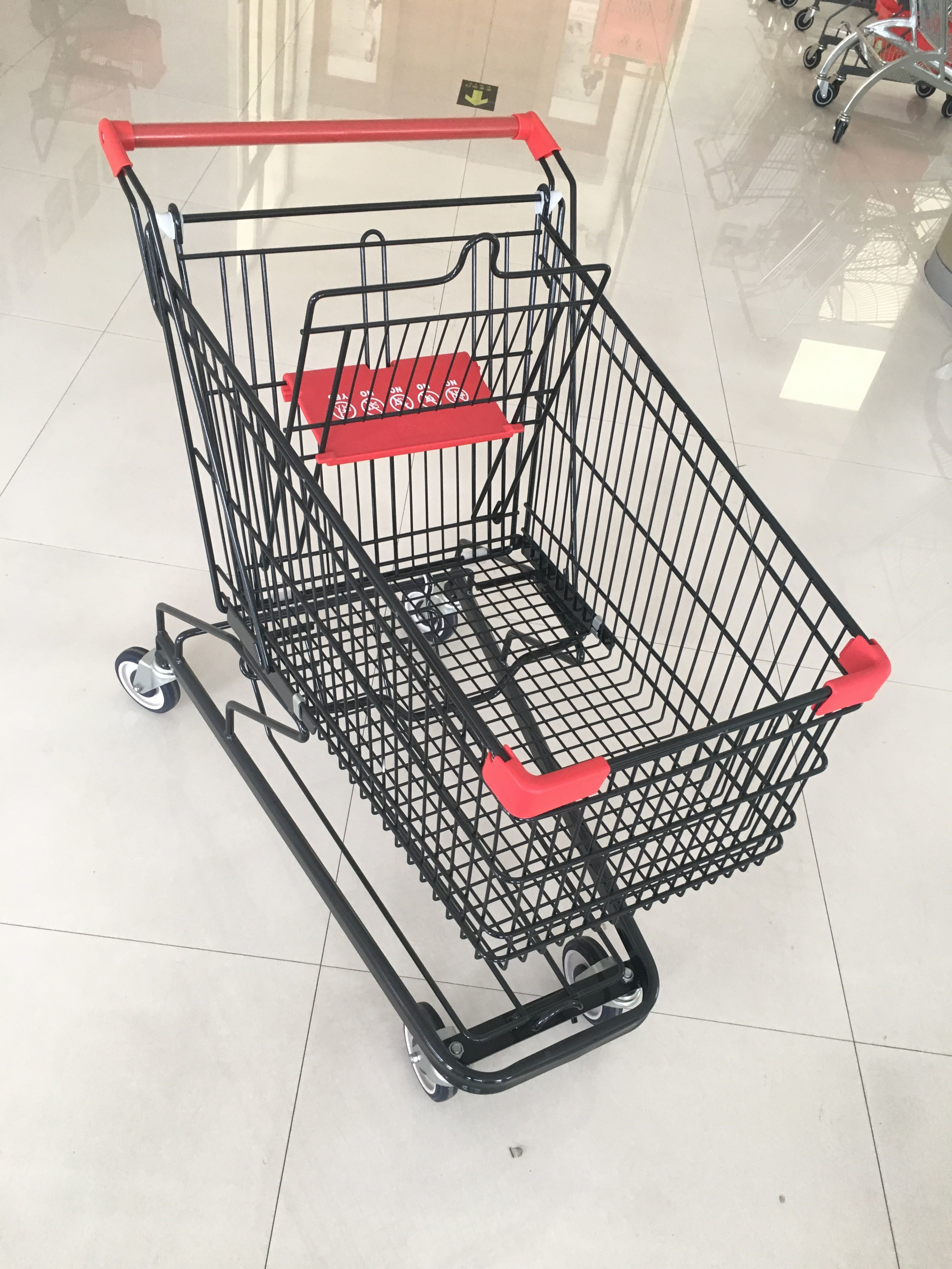 125 L Supermarket Shopping Trolley With 4 Swivel Flat Casters , 941 X 562 X 1001mm