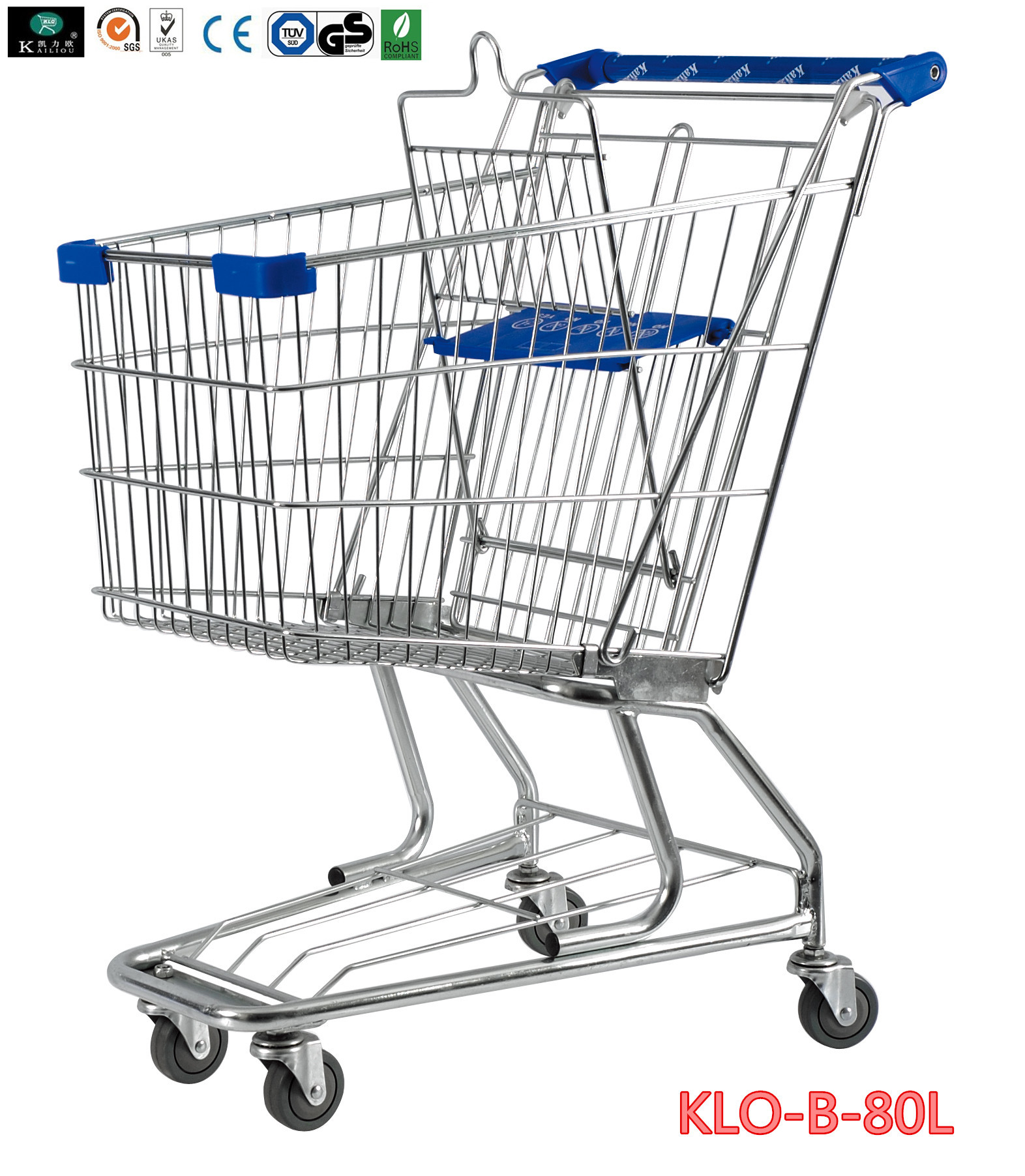 American Style Elderly / Disabled Shopping Trolley , Metal Supermarket Carts