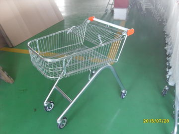 European Style 71L Shopping Trolley Cart Metal With Swivel Casters