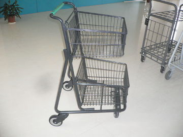 Trung Quốc Two deck Basket Grocery shopping trolley / cart with american handle printed logo nhà máy sản xuất