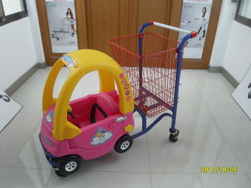 Trung Quốc 95L Low Carbon Steel / Plastic Children Shopping Cart With Red Powder Coating nhà máy sản xuất